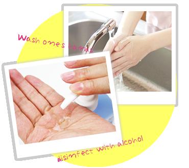 カラーカフェグループでは特に衛生面を厳しくしており 常に清掃と消毒を徹底しております。