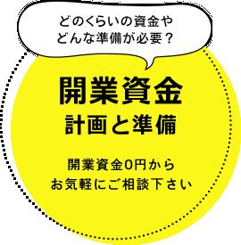 開業資金 計画と準備。開業資金0円から お気軽にご相談下さい