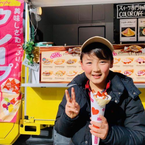 大阪府「梅田ロフト」様でクレープのキッチンカーが出店!ホットタピオカも大人気♪出店依頼受付中!