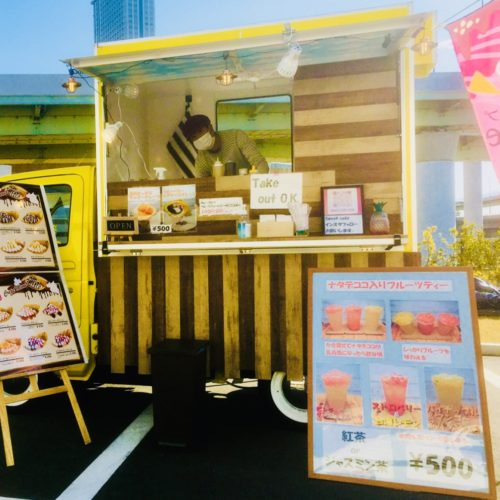 大阪府「アクアイグニス関西空港1周年記念イベント」クレープのキッチンカーで出店!