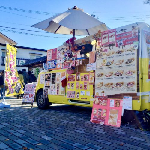 長野県「懐古園」様でクレープ屋の移動販売が出店!!フランチャイズオーナー♪