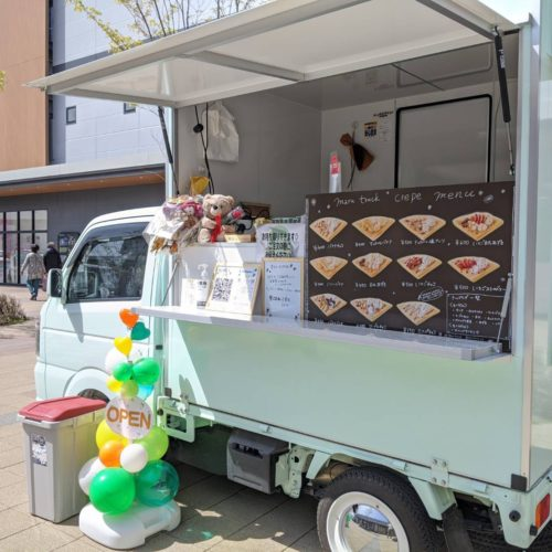 福岡県のフランチャイズオーナー「BRUNCH博多パピヨンガーデン」様にクレープのキッチンカで出店!
