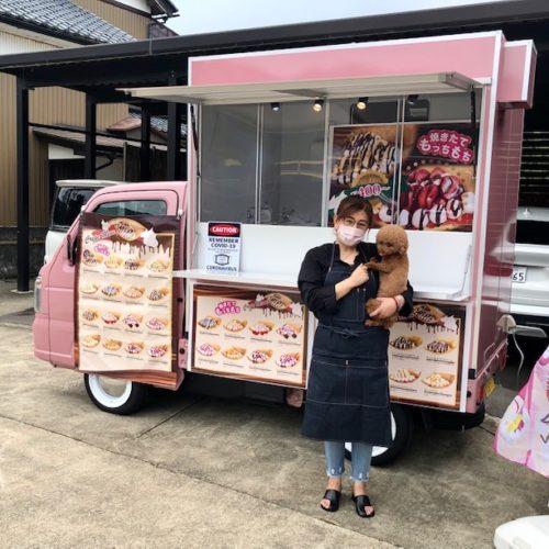 福井県でフランチャイズオーナー様が開業決定!クレープ屋さんのキッチンカー納車完了!
